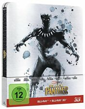 BLACK PANTHER LIMITED STEELBOOK EDITION BLU-RAY + 3D BLU-RAY MARVEL DEUTSCH