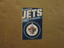 NHL Winnipeg Jets Vintage Circa 2011-2012 Logo Hockey Pocket Schedule