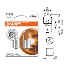 2 x Osram 207 R5W BA15S Sidelight Side Light Car Bulb 12v 5w 5007 - E Approved