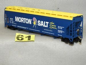 TYCO HO SCALE MORTON SALT COVERED HOPPER READY TO RUN CONDITION