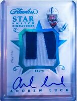 2018 Panini Flawless Andrew Luck Colts Star Swatch Auto Patch Platinum 1/1