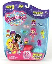 Splashlings and Mermaid 12 pack Playset Wave 3 Ages 5+ Toy Water Play Swim Girls