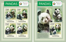 Pandas Panda Bears Bären Fauna Animals Togo MNH stamp set
