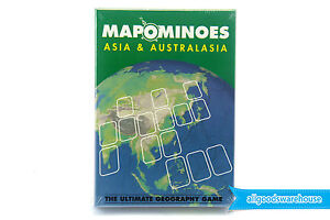 MAPOMINOES Asia & Australia Geography Map Strategy Card Game Fun Educational