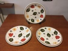 Alessia Dinner Plates X 3 - Italian Handpainted Eathenware - For Pier 1 - Rare!