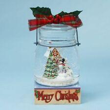 Dept 56 Snowman Jar Scene Waterball NIB Free Shipping #4017629