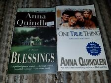 Lot of 2 Anna Quindlen paperbacks, Blessings, One True Thing