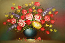 """24x36"""" (61x92cm)100% hand painted oil flat,Sunflower/Rose/Lily"""