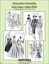 1940s 1950s Haslam Draft Pattern Making Book #31 (Sewing Drafting) Dress Fashion