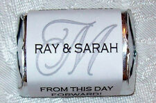 300 MONOGRAM WEDDING CANDY WRAPPERS FAVORS