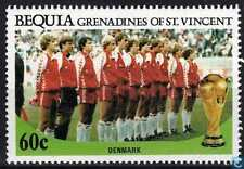 1986 FIFA World Cup Football MEXICO Bequia St. Vincent Grenadines Stamp DENMARK