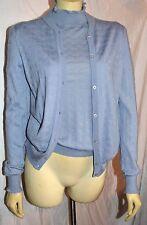 Salvatore Ferragamo cashmere 2 piece top Twinset Shell Cardigan Sweater M WOW