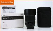 Sigma 20mm f1.4 DG HSM Art Lens - Nikon Free UK Post