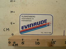 STICKER,DECAL EVINRUDE  OUTBOARD MOTORS ? KLINKENBERG HOENSBROEK