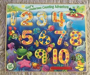 Leap Frog Tad's Undersea Counting Magnetic/Dry Erase Wooden Board Puzzle