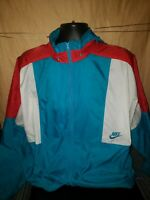 Rare Vintage Nike 80's 90's Gray Tag Windbreaker Jacket Size L Teal Red White