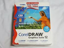 NEW Corel Draw Graphics Suite 12 Full Retail Version SEALED (Tears) PC Computer
