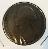 1881-H Great Britain Bronze Penny UK Coin Queen Victoria Collectible Coin
