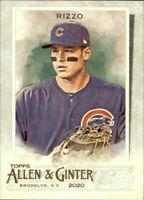 (10) 2020 Topps Allen & Ginter ANTHONY RIZZO Base Card Lot (x10) Cubs #86