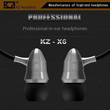 KZ-X6HS Silber Professional High-End Headset Metal Version In-Ear Megabass Beats