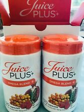 Juice Plus Omega Blend -2 Bottles- Plant Based Omega 3,5,6,7,9 240 Capsules 4M