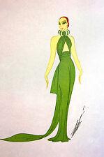 Erte 1972 Ltd. Edition - EVENING DRESS - PARIS 1937 - Vintage Art Print Matted
