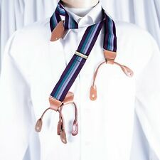 DOONEY & BOURKE  Purple Plum with Gray Lavender and Green Stripe Man Suspenders