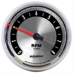 AutoMeter 1298 American Muscle Analog Gauge Electric Tachometer 3 3/8in In Dash