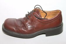 Ecco City Brown Leather Moc Toe Casual Dress Oxfords Shoes Mens 41 / 7 - 7.5