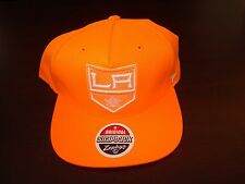 LOS ANGELES KINGS ORANGE ZEPHYR NEW RARE  VINT  RETRO  SCRIPT  HAT CAP SNAPBACK