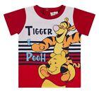 DISNEY t-shirt bébé manches courtes TIGROU WINNIE 6 12 18 ou 23 mois rouge NEUF