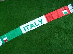 Echarpe satin scarf ITALIA signé signed MARCO MATERAZZI ultras calcio Italie