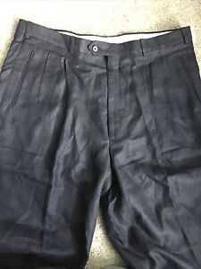 """NWT Britches Linnen Pants Black Sz 40"""" Unfinished Beautiful Classic Retails $185"""