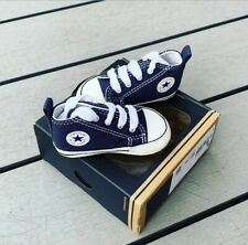 Converse All Star Navy Crib Trainer Infant Baby Shoes UK 2