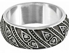 NWT Brighton MUMTAZ HEART Silver Band Crystal Ring   Size 5    MSRP $54