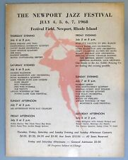 1968 Newport Jazz Festival Cardboard Poster