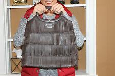 RARE! Kate Spade Hula Bag Ida Chocolate LEATHER FRINGE FLIRTY! Tote PURSE BAG