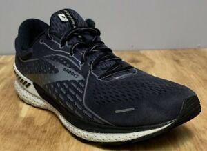 Brooks Men's Adrenaline 21 1103491D093 Black Gray Running Shoes Lace Up Size 12