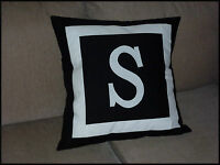 PERSONALISED CUSHION COVER - MONOGRAM INITIAL - CHOOSE YOUR COLOUR /LETTER
