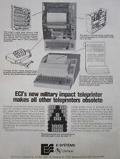 11//1973 PUB ECI ELECTRONIC COMMUNICATIONS AN//WSC-3 FLEET SATCOM NAVY ORIGINAL AD