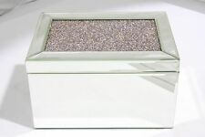 Luxury & Quality Two Layers Glass / Wooden Jewellery Box - Diamond Decor -JB3006
