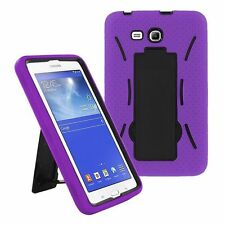 Purple Hybrid Hard Case Skin Cover For Samsung Galaxy Tab 3 E Lite 7.0 T110