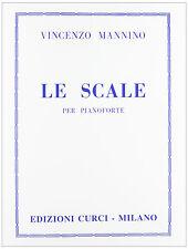 MANNINO - LE SCALE PER PIANOFORTE - EDIZIONI CURCI