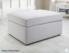 Jay Be Modern Fabric Footstool Sofa Bed Guest Bed with Mattress in 20 Colours