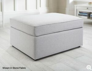 Jay Be Modern Fabric Footstool Sofa Bed Guest Bed with Mattress In 8 Colours