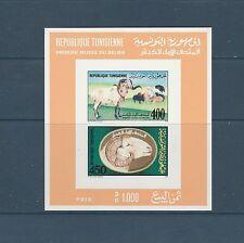 Tunisie  bloc  musée du bélier  de 1990  num: 24   non dentelé   **