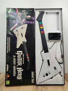 Xbox 360 Guitar Hero II 2 Gibson White X-Plorer Wired 95065 RedOctane w/ Box