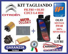 KIT TAGLIANDO OLIO IP SINTIAX 5W40 + FILTRI CITROEN C2 C3 1.4 HDI 50 KW