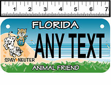 PERSONALIZED ALUMINUM MOTORCYCLE STATE LICENSE PLATE-FLORIDA ANIMAL FRIEND
