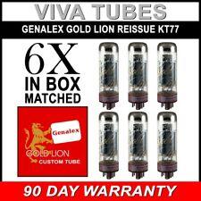 Brand New Genalex Reissue KT77 KT-77 Current Matched Sextet (6) Vacuum Tubes